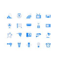 electronic appliance simple flat icons vector image