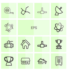 eps icons vector image