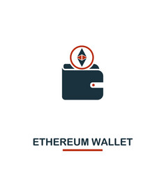 ethereum wallet icon creative two colors design vector image