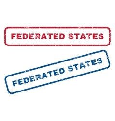 Federated States Rubber Stamps vector