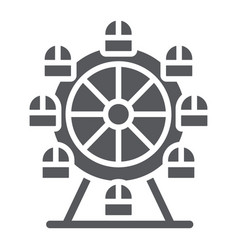 Ferris wheel glyph icon funfair and entertainment vector