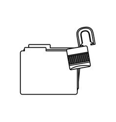 Figure file and open lock icon vector