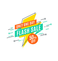 flash sale promotion banner flat design price vector image