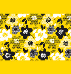 Floral abstract seamless pattern vector