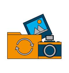 folder picture camera reload vector image