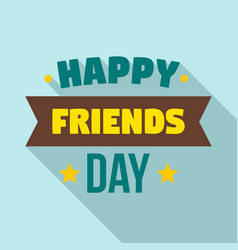 friendship day logo flat style vector image