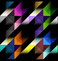 Geometrical hounds-tooth pattern vector