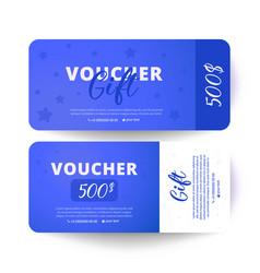 Gift voucher template flat style vector