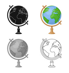 globe icon in cartoon style isolated on white vector image