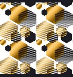 gold and black color elegant repeatable motif vector image