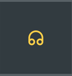 headphone symbol design vector image