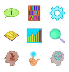 Human psyche icons set cartoon style vector