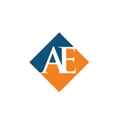 Initial ae rhombus logo design vector