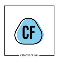 initial letter cf logo template design vector image