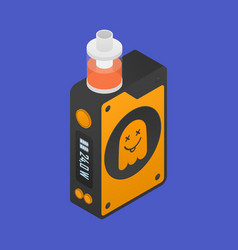 isometric icon of vape device with ghost vector image