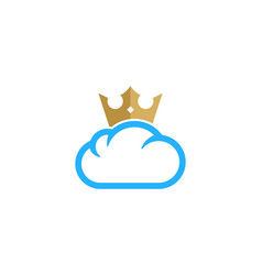 king weather and season logo icon design vector image