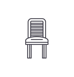 kitchen chair line icon concept kitchen chair vector image