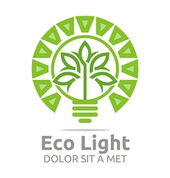 Lamp eco light bulb design icon vector