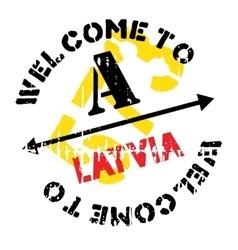 Latvia stamp rubber grunge vector