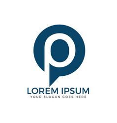 letter p logo design vector image
