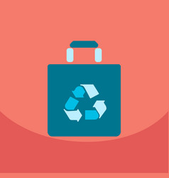 Light color paper bag with recycle sign vector