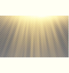 Light flare special effect with rays of light and vector