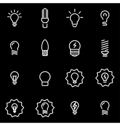 line bulbs icon set vector image