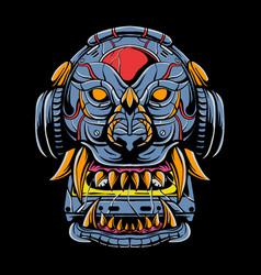 Lion cyborg vector
