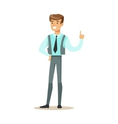 Man In Vest With A Tie Part Of Office Workers vector image
