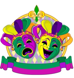Mardi Gras Masks design vector image