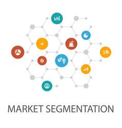 Market segmentation presentation template cover vector