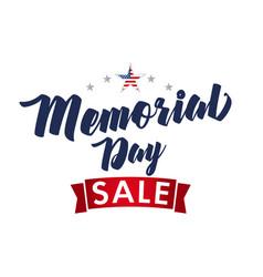 Memorial day usa sale poster vector