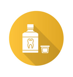mouthwash flat design long shadow glyph icon vector image