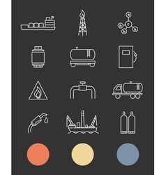 Natural gas Production and transportation flat vector image