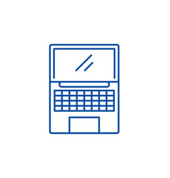 Netbook line icon concept netbook flat vector