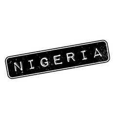 Nigeria rubber stamp vector