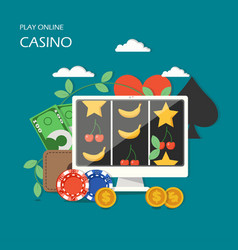 online casino game concept flat vector image