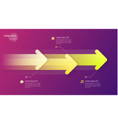 paper style timeline infographic concept vector image