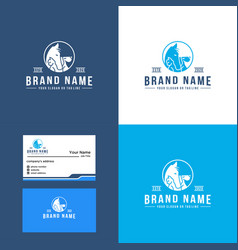 Premium horse cat and dog logo design luxury vector