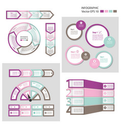 Process chart module infographic set vector