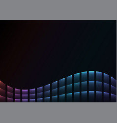 rainbow abstract pixel curve background vector image vector image