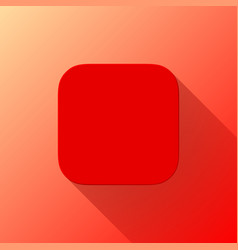 red blabk app icon template flat design vector image