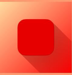 red blabk app icon template flat design vector image