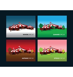 seasonal circus backgrounds vector image
