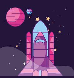Space galaxy card vector