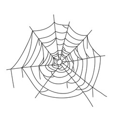 Spider creepy web icon corner hanging network vector