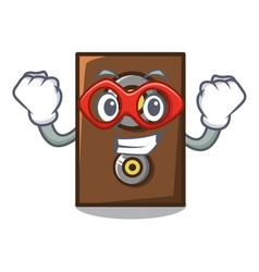 super hero speaker character cartoon style vector image