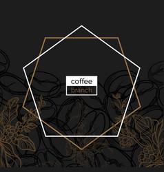 template coffee dark bean vector image