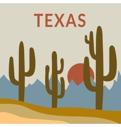 Texas t-shirt design vector image