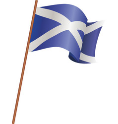 the flag of scotland vector image